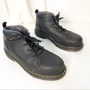 Dr Martens Steel Toe Safety Shoes Black Womens 8